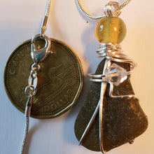 "Load image into Gallery viewer, ""Star Fish Perch"" Genuine Frosted Sea Glass pendant"