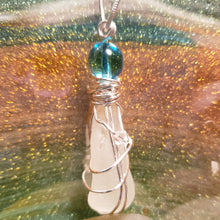 "Load image into Gallery viewer, ""Serenity"" Genuine Frosted Sea Glass pendant"