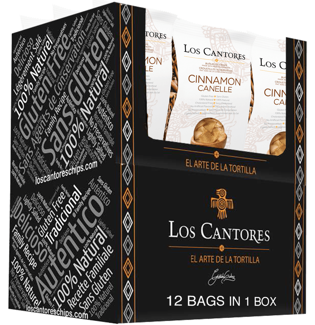 Los Cantores Cinnamon Tortilla Chips Box