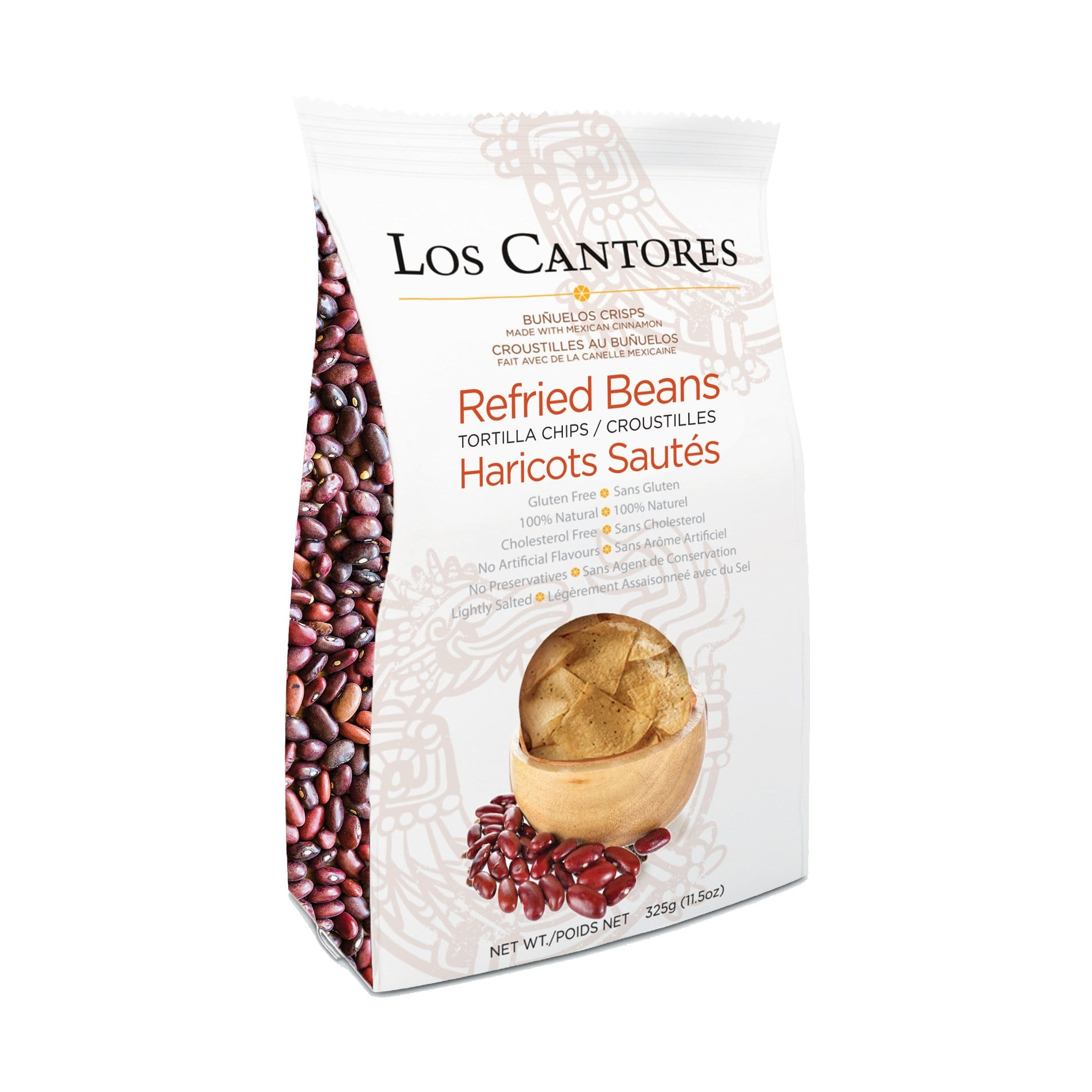 Los Cantores Tortilla Chips Refried Beans