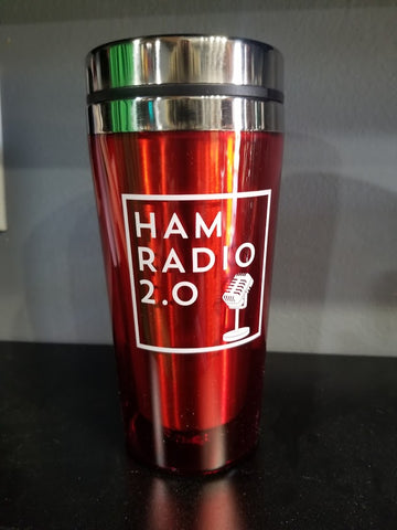 16oz Coffee Tumbler in Red - Ham Radio 2.0