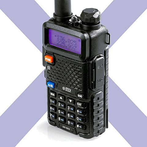 BTECH UV-5X3 5 Watt Tri-Band Radio : VHF, 1.25M, UHF, HT Transceiver