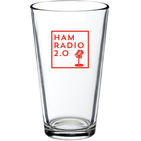 Ham Radio 2.0 Square Logo - 16oz Pint Glass