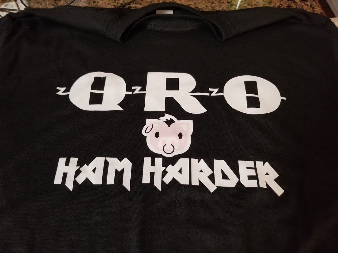 QRO - Ham Harder! Short Sleeve T-shirt *SPECIAL ORDER*