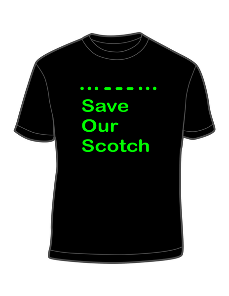 S.O.S. - Save Our Scotch - Morse Code T-shirt *SPECIAL ORDER*