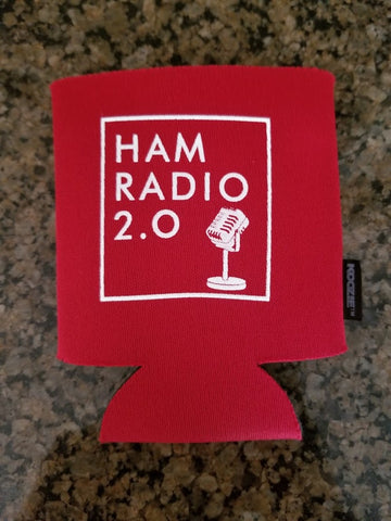 Ham Radio 2.0 Red Koozie - 12oz Koozie for Canned Beer or Soda