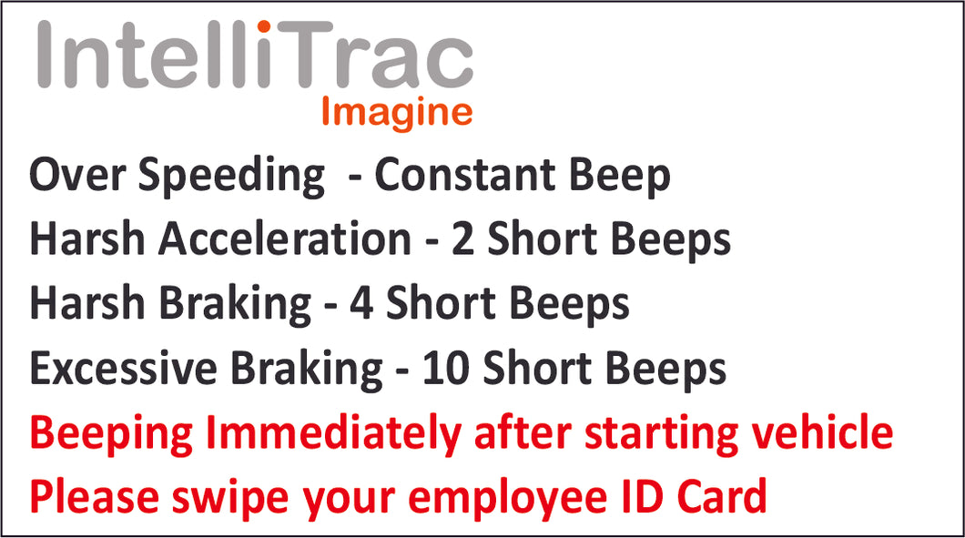IntelliTrac Driver Behaviour Coaching Decal