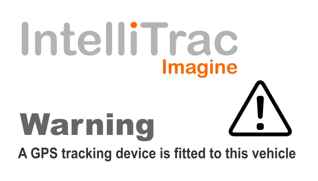 IntelliTrac GPS Tracker Driver Warning Label