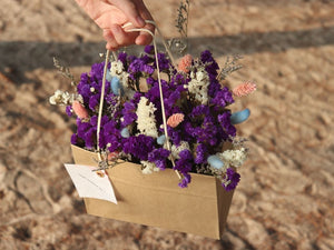 Dried flower in paper bag