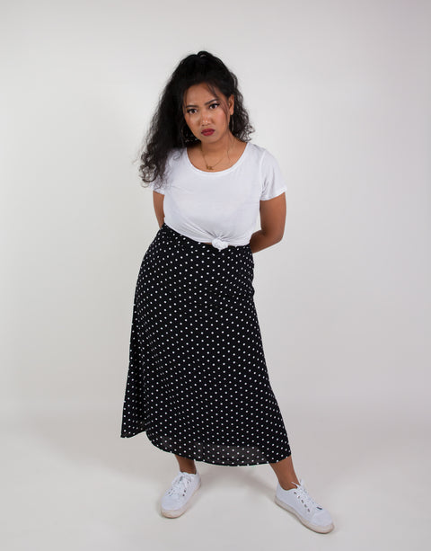 TAKE ME ON A PICNIC MIDI SKIRT
