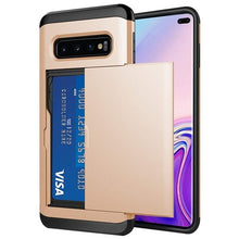 Load image into Gallery viewer, For Samsung Galaxy S10 Plus S9 S8 S7 S6 Edge S5 S10E S10 5G Case Slide Armor Wallet Card Slots Holder Cover For Samsung Note 9 8