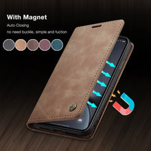 Load image into Gallery viewer, CaseMe Retro Leather Purse Case For iPhone 11 Pro X XR XS Max Luxury Magneti Card Holder Wallet Cover For iPhone 8 7 6 6S Plus 5