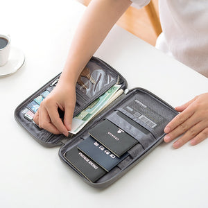 New Passport Travel Wallet Passport Holder Multi-Function Credit Card Package ID Document Multi-Card Storage Pack Clutch