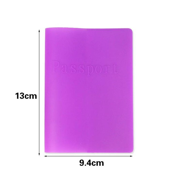 Business Cards 6 Colors Women Men Passport Holder Leather Bags Passport Cover Silicone Documents Folder