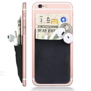 Fashion Creative silicone Cell Phone Wallet Case Women Men Credit ID Card Holder Business Pocket Stick 3M Adhesive 9.9*5.5cm