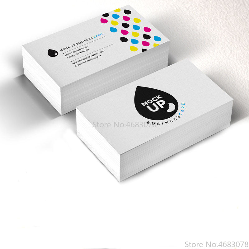 Free Printing 200pcs/500pcs/1000pcs/lot Paper business card 300gsm paper cards with Custom logo printing Free Shipping 90x53mm