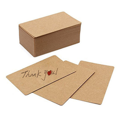 100pcs Blank Kraft paper Business Cards Word Card Message Card DIY Gift Card