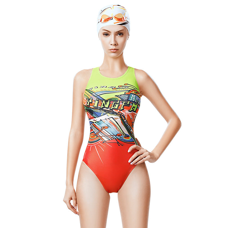YINGFA New Professional One-Piece Triangle Swimsuit- 639