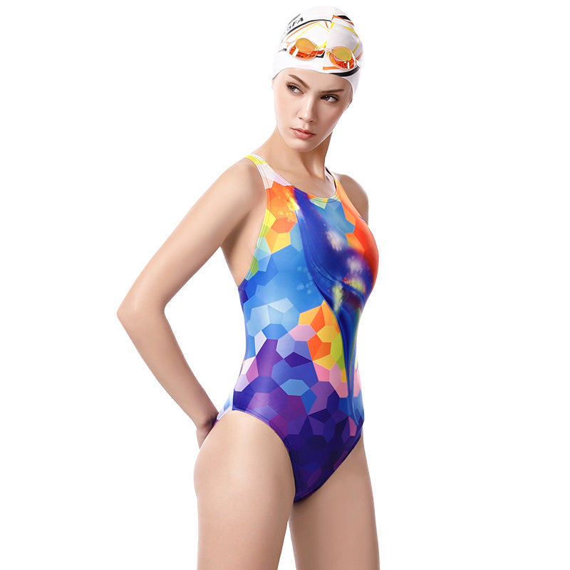 YINGFA New Professional One-Piece Triangle Swimsuit- 655