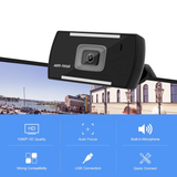 (A855 Por)2.0 Megapixels 30FPS full HD 1080P computer camera with built-in microphone and noise reduction function Autofocus USB webcam