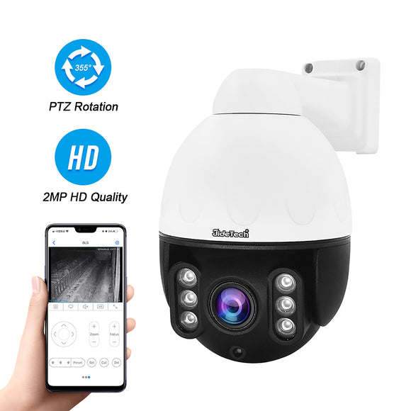JideTech 2MP HD 1080P Night Vision 4X Zoom Security PTZ Camera (P10-4X-2MP)