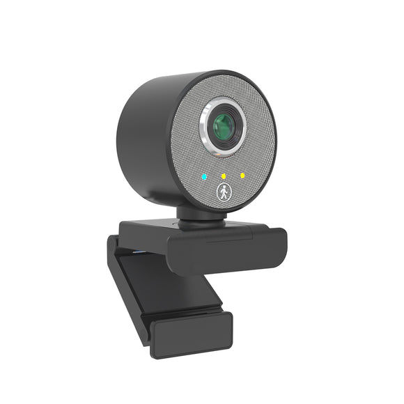 (S65)JideTech 1080P AI Auto Tracking USB Camera With Built-in Microphone
