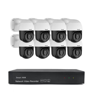 JideTech 5MP Home Surveillance CCTV System H.265 CCTV Camera Kit (P6-5MP 8pcs kit)
