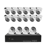 JideTech 5MP Home Surveillance CCTV System H.265 16CH CCTV Camera Kit (JD16NK302-5MP)
