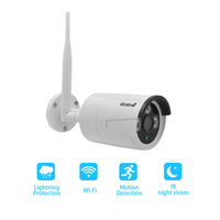 JideTech 2MP 4CH Wifi Bullet IP Security Camera System(BC03-2MPW 4pcs kit)