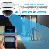 JideTech 1080P 4X Zoom PTZ WiFI Dome Camera With SD Card Slot CCTV Camera (P5-4X-2MPW)