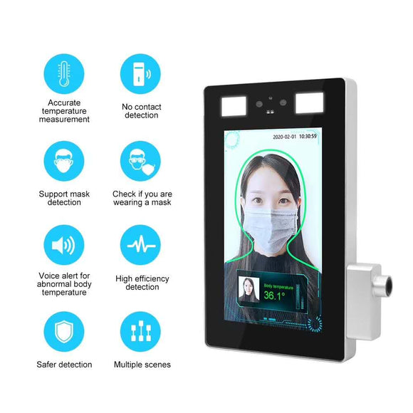 7 inch face recognition wrist temperature measurement panel machine