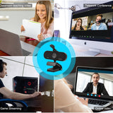 (A966)2020 HOT Cheap 5MP Built in Mic Ultra HD Mini PC USB Webcam for Video Conferencing, Recording, and Streaming
