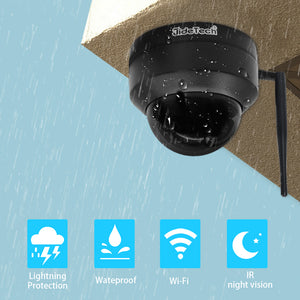 JideTech 2MP 4X Zoom PTZ WiFI Camera with SD Card Slot (P1-4X-2MPW)