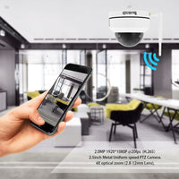 JideTech 1080P PTZ WiFI Camera With 4X Zoom H.264++ (P1-4X-2MPW)