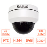 JideTech 2MP 16CH 1080P 4X PTZ POE Camera H.265 NVR CCTV Kits Dome Security Camera Kit (P1-4X-2MP Kits)