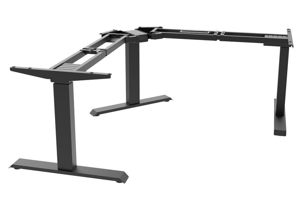 Electric Corner Desk Frame L Shaped 3 Leg Sit Stand Desk With Triple Motors, Memory Settings, And Telescopic Height Adjustment