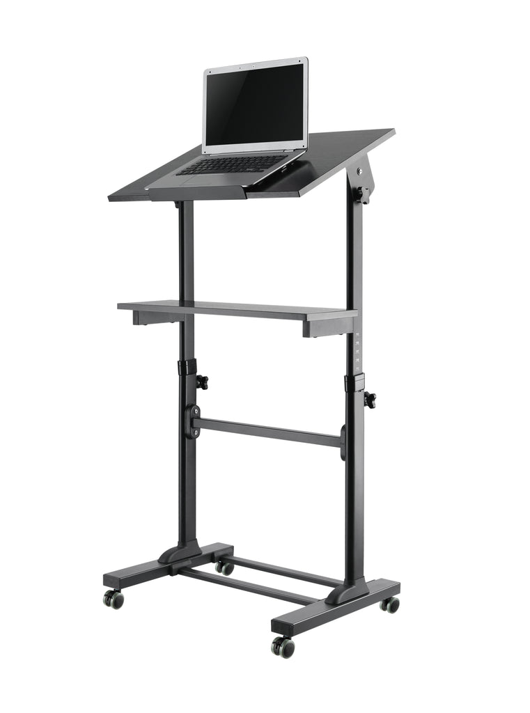 Mobile Standing Desk - Rolling Workstation Cart  - Height Adjustable Presentation Podium