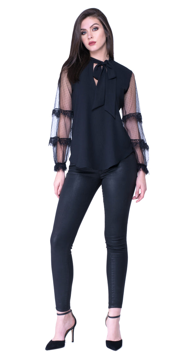 Heaven Tie Neck Blouse