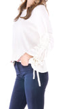 Cecily Drawstring Sleeve Sweater