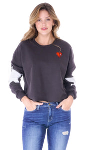 Lee Starry Patch Cropped Sweatshirt