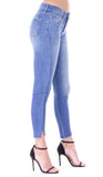 Macy Button Up Mid Rise Skinny Jean