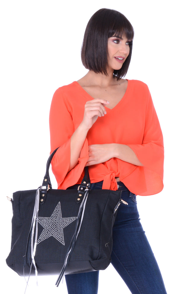 Star Studded Large Tote Bag