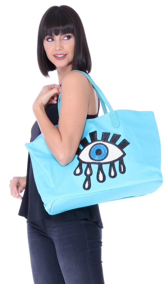 Sequin Eye Large Tote Bag