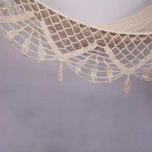 Crochet Hammock with Hanging Fringe