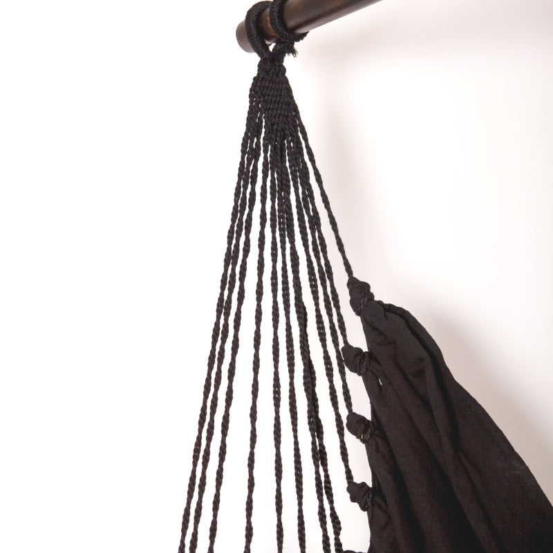 black boho hammock chair