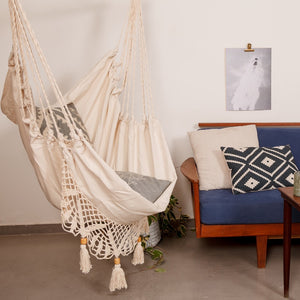 Off White Boho Hammock