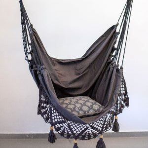 Grey Boho Hammock Chair