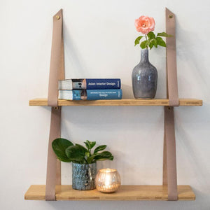 single wood shelf