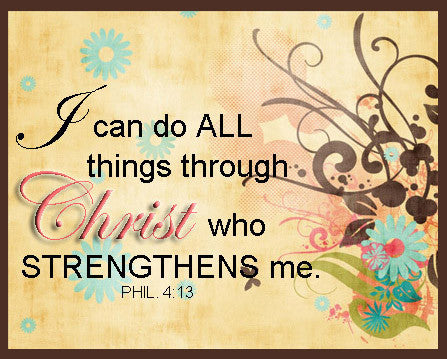 I can do All Things through Christ plaque frames design wall art ...