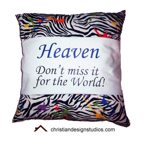 Heaven Don T Miss It For The World Accent Zebra Throw